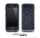 The Dark Black & Purple Delicate Pattern Skin for the Apple iPhone 5c LifeProof Case