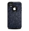 The Dark Black & Purple Delicate Pattern Skin for the iPhone 4-4s OtterBox Commuter Case
