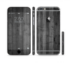 The Dark Black WoodGrain Sectioned Skin Series for the Apple iPhone 6 Plus