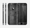 The Dark Black WoodGrain Skin for the Apple iPhone 6