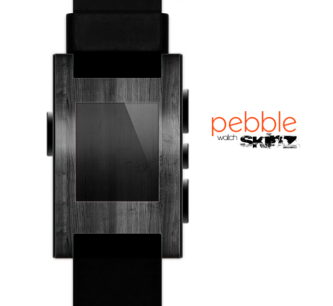 The Dark Black WoodGrain Skin for the Pebble SmartWatch