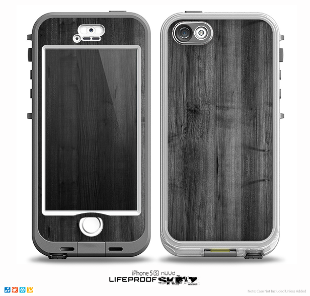 The Dark Black WoodGrain Skin for the iPhone 5-5s NUUD LifeProof Case for the lifeproof skins
