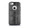 The Dark Black WoodGrain Skin for the iPhone 5c OtterBox Commuter Case