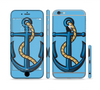 The Dark Blue Anchor with Rope Sectioned Skin Series for the Apple iPhone 6