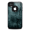 The Dark Blue Cracked Texture Skin for the iPhone 4-4s OtterBox Commuter Case
