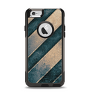 The Dark Blue & Highlighted Grunge Strips Apple iPhone 6 Otterbox Commuter Case Skin Set