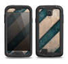 The Dark Blue & Highlighted Grunge Strips Samsung Galaxy S4 LifeProof Nuud Case Skin Set