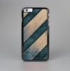 The Dark Blue & Highlighted Grunge Strips Skin-Sert Case for the Apple iPhone 6 Plus