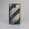 The Dark Blue & Highlighted Grunge Strips Skin-Sert Case for the Samsung Galaxy Note 3