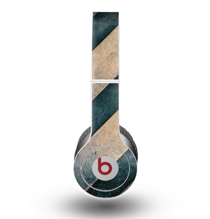 The Dark Blue & Highlighted Grunge Strips Skin for the Beats by Dre Original Solo-Solo HD Headphones