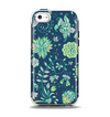 The Dark Blue & Pink-Yellow Sketched Lace Patterns v21 Apple iPhone 5c Otterbox Symmetry Case Skin Set