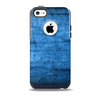 The Dark Blue Scratched Stone Wall Skin for the iPhone 5c OtterBox Commuter Case