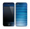 The Dark Blue Streaks Skin for the Apple iPhone 4-4s