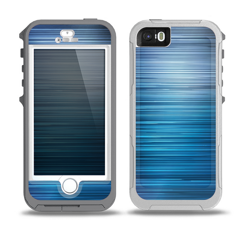 The Dark Blue Streaks Skin for the iPhone 5-5s OtterBox Preserver WaterProof Case