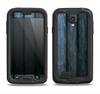 The Dark Blue Washed Wood Samsung Galaxy S4 LifeProof Nuud Case Skin Set