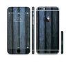 The Dark Blue Washed Wood Sectioned Skin Series for the Apple iPhone 6 Plus