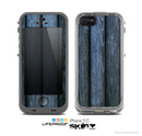 The Dark Blue Washed Wood Skin for the Apple iPhone 5c LifeProof Case