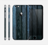 The Dark Blue Washed Wood Skin for the Apple iPhone 6