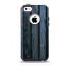 The Dark Blue Washed Wood Skin for the iPhone 5c OtterBox Commuter Case