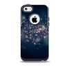 The Dark Blue & White Lace DesignSkin for the iPhone 5c OtterBox Commuter Case