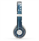 The Dark Blue & White Shimmer Strips Skin for the Beats by Dre Solo 2 Headphones