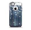 The Dark Blue & White Shimmer Strips Skin for the iPhone 5c OtterBox Commuter Case