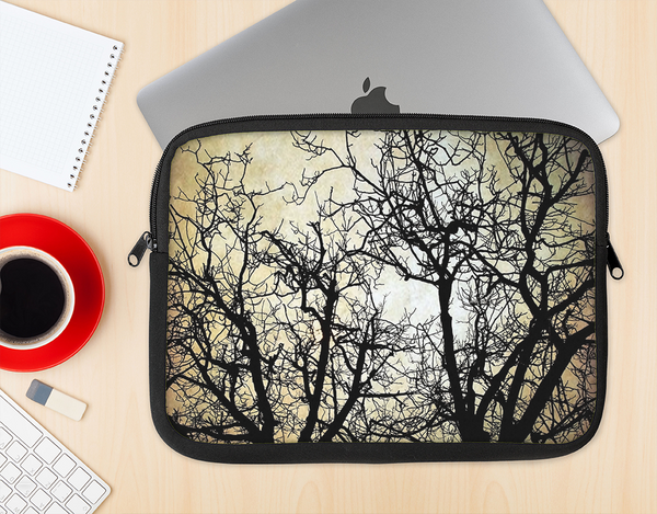 The Dark Branches Bright Sky Ink-Fuzed NeoPrene MacBook Laptop Sleeve