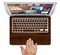 "The Dark Brown Wood Grain Skin Set for the Apple MacBook Pro 15"" with Retina Display"