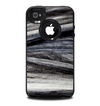 The Dark Colored Frizzy Texture Skin for the iPhone 4-4s OtterBox Commuter Case