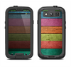 The Dark Colorful Wood Planks V2 Samsung Galaxy S4 LifeProof Nuud Case Skin Set