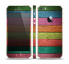 The Dark Colorful Wood Planks V2 Skin Set for the Apple iPhone 5s