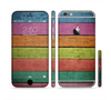 The Dark Colorful Wood Planks V2 Sectioned Skin Series for the Apple iPhone 6