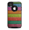 The Dark Colorful Wood Planks V2 Skin for the iPhone 4-4s OtterBox Commuter Case