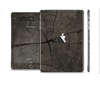 The Dark Cracked Wood Stump Skin Set for the Apple iPad Mini 4
