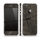 The Dark Cracked Wood Stump Skin Set for the Apple iPhone 5