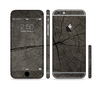 The Dark Cracked Wood Stump Sectioned Skin Series for the Apple iPhone 6