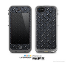 The Dark Diamond Plate Skin for the Apple iPhone 5c LifeProof Case