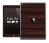 The Dark Ebony Wood Skin for the iPad Air
