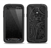 The Dark Gray & Black Paisley Samsung Galaxy S4 LifeProof Fre Case Skin Set