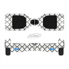 The Dark Gray & White Seamless Morocan Pattern Full-Body Skin Set for the Smart Drifting SuperCharged iiRov HoverBoard