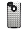 The Dark Gray & White Seamless Morocan Pattern Skin for the iPhone 4-4s OtterBox Commuter Case