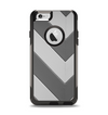 The Dark Gray Wide Chevron Apple iPhone 6 Otterbox Commuter Case Skin Set