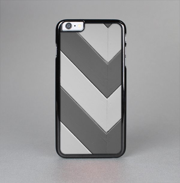 The Dark Gray Wide Chevron Skin-Sert Case for the Apple iPhone 6 Plus