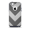 The Dark Gray Wide Chevron Skin for the iPhone 5c OtterBox Commuter Case