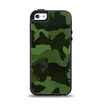 The Dark Green Camouflage Textile Apple iPhone 5-5s Otterbox Symmetry Case Skin Set