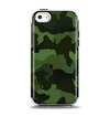 The Dark Green Camouflage Textile Apple iPhone 5c Otterbox Symmetry Case Skin Set