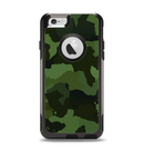 The Dark Green Camouflage Textile Apple iPhone 6 Otterbox Commuter Case Skin Set