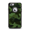 The Dark Green Camouflage Textile Apple iPhone 6 Otterbox Defender Case Skin Set