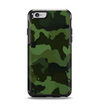 The Dark Green Camouflage Textile Apple iPhone 6 Otterbox Symmetry Case Skin Set