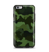 The Dark Green Camouflage Textile Apple iPhone 6 Plus Otterbox Symmetry Case Skin Set